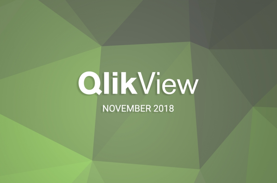 QlikView November 2018 fait son apparition !